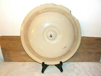 Antique Stoneware Crock Lid Red Wing 4 Gallons Primitive marked