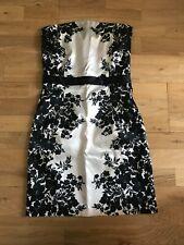 Mini vestido Naf NAF sin tirantes talla, UK 8 UE 36, Negro Y Blanco Floral Bodycon Corto