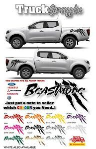 Pick up 4x4 VEHICLE GRAPHICS DECALS STICKERS x2 fits all pickups FORD VW L200