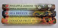 Hem Pineapple Jasmine* Sea Breeze * Jamaican Fruit 60 Incense Sticks Variety