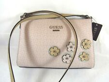 "NWT Guess Ladies purse crossbody shoulder bag ""Society""in blush"