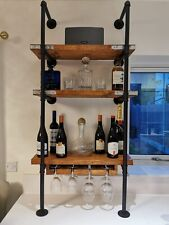 Industrial, Iron Pipe, Drinks, Wine, Wall Shelving Unit