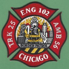 CHICAGO FIRE DEPARTMENT ENGINE 102 TRUCK 25 COMPANY PATCH