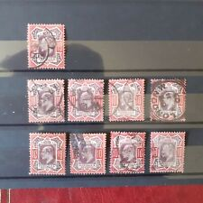 Gb KEVII 10d Stamps X9