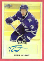 2016-17 Ryan McLeod Leaf Metal Rookie Silver Auto - Edmonton Oilers