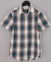 Men Penguin Casual Shirt Short Sleeves CottonBlend M VDA203