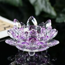 8 colors Crystal Lotus Candle Holders Feng Shui Bowl Candlestick For candelabra