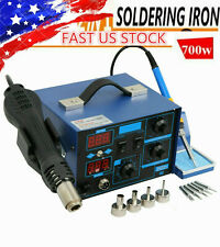 US 862D Soldering Station Rework Hot Air Gun Solder Iron Welding Tools F Repair