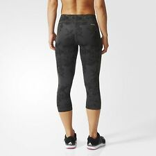 ae2f774a7690 adidas Floral Print Capri Tight Techfit Climalite Legging Yoga Running Pant  Sz M