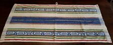 1960s Bathroom/ Kitchen Hand Towel. Multi-Colour Bands. 100% Perfect. Home/ Gift