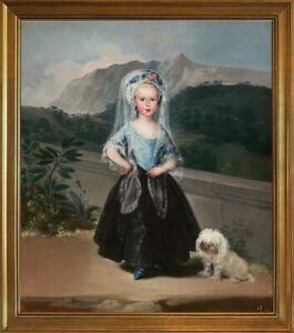 Classic Framed Francisco de Goya Maria Teresa Giclee Canvas Print