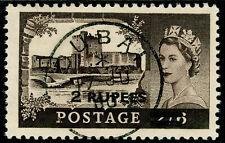BRITISH POSTAL AGENCIES IN EA SG56a, 2r on 2s 6d black-brown, VFU, CDS. TYPE II.