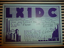 QSL CARD CARTE RADIO Luxemburgian short wave station LX1DC