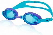 4686a80e2aee NIKE CHROME JR WOMEN   GIRLS SMALL ADULT LARGE YOUTH SWIM GOGGLES  TURQUOISE BLUE