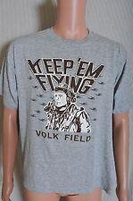 Vintage '80s Keep 'Em Flying Volk field heather gray soft t shirt M