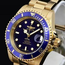 Invicta 8928ob Pro Diver Automatic 23k Gold Plated Blue Dial Stainless Steel