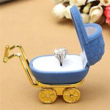 Velvet Stroller Ring Box Storage Case Jewelry Display Holder Gift Case