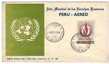 Peru 1968 FDC Año Mundial de los Derechos Humanos