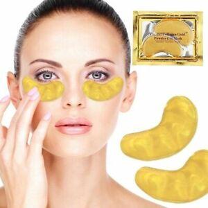 10pcs 5 pairs Crystal Collagen 24k Gold Under Eye Gel Pad Face Mask Anti Aging