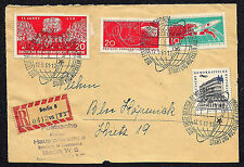 OPC 1961 Germany DDR Registered Local with event Franking top sheet only