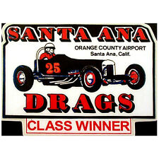 Santa Ana Drags Orange County Vintage Reproduction Hot Rod & Drag Racing Decals