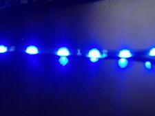 2x 60cm ULTRA THIN BLUE led strip side lights DRL stick on 12volt modification