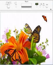 Sticker Lave vaisselle REPOSITIONNABLE déco papillons 60x60cm Réf 163