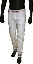 Pantaloni Felpati Tuta SLIM Bianchi con Polsino caviglia S->XL
