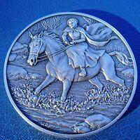 DAR Medal MARGARET CATHERINE MOORE BARRY American Revolutionary War. Great Women