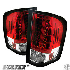 2007-2012 CHEVY SILVERADO 1500 2500 3500 LED TAIL LIGHT BAR LIGHTBAR RED CLEAR