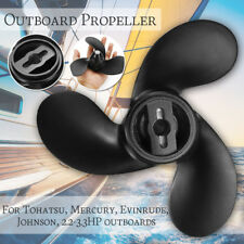 Boat Propeller 2.2-3.3HP Outboard Motor 3 Blade For Tohatsu Mercury Evinrude Joh