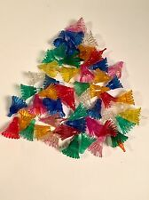 52 VINTAGE CHRISTMAS TREE LIGHT REFLECTORS COVERS DAISY FLOWER STYLE