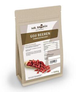 Goji Beeren 1 kg getrocknet, abgefüllt in Bayern, ohne Zusätze (18,45 EUR/kg)