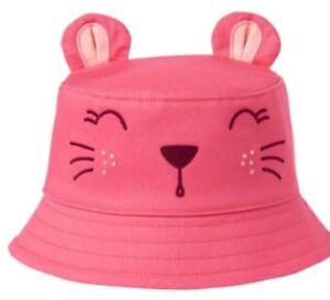 NWT Gymboree Safari Twirl Pink Lion Hat Bucket Baby Girl