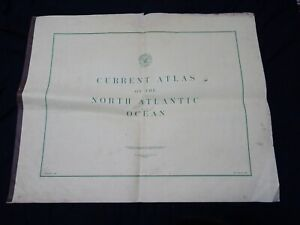 1946 Current Atlas North Atlantic Ocean US Navy Hydrographic Office First Ed.