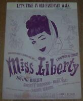Let's Take an Old-Fashioned Walk From a New Musical Comedy Miss Liberty 1948