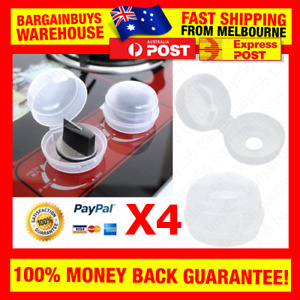 4pcs KidSafe Stove & Oven Knob Safety Cover Gas Stove Lock Safe for Baby Kids