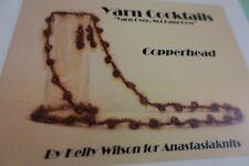 Anastasia Crochet Pattern:  Yarn Cocktails Copperhead Jewelry Necklace Earrings