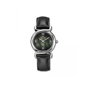 Orologio Donna VETTA CHARME VW0128 Pelle Nero Madreperla Zaffiro Lady