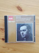 Alexander Kipnis singt Brahms: Vier ernste Gesänge und 20 Lieder. 1 CD