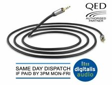 1.5m QED J2J Performance Graphite Audio Interconnect Cable 3.5mm Jack to Jack