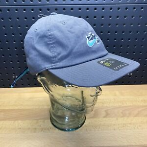 Nike SB Heritage 86 Strapback Adjustable Strap Cap Hat Grey Blue AV7884-022
