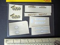 Vintage Replacement Decals Dinky: Esso, Mobilgas, Nestles, Oxo, Raleigh (N420)