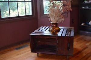 Contemporary Coffee Table Handmade from Crates