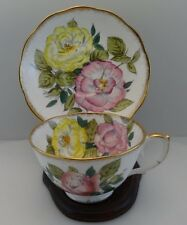 Hand Decorated Roslyn China ROMONY Cup and Saucer Set  # 8655 EXCELLENT