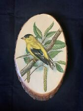 Vintage Wood Wall Art Plaque Grand Teton National Park Bird Rustic Country