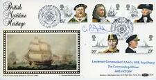 GB 1982 Maritime Heritage FDC Signed by commander of HMS Victory