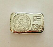 1oz / 28.35g hand poured bar 999 tin Confederate States of America 1st Nat flag