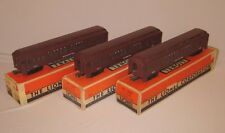 Lionel Nos. 2625, 2627, 2628 Madison Style Passenger Cars, Maroon, Boxed