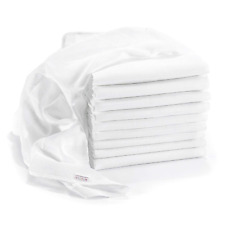 Makian - Baby Muslin Squares / Burp Cloth / Swaddles, 10 Pack, Large 80x80 cm, |
